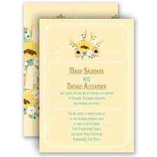 Country Sunflowers - Honey - Invitation