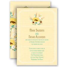 Country Sunflowers - Honey - Invitation
