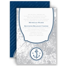 Vintage Nautical - Invitation