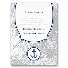 Vintage Nautical Save the Date