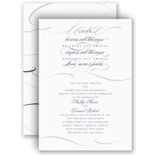 Love Never Fails Wedding Invitation