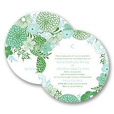 Retro Blossoms - Invitation