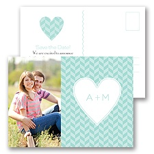 Woven Romance - Save the Date Postcard