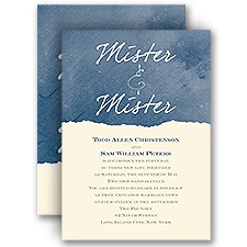 Mister and Mister - Ecru - Invitation