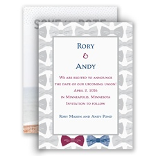 Bow Ties Modern Save the Date