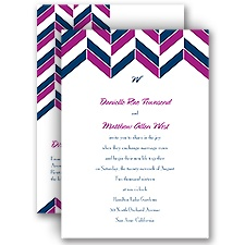 Chevron Charm All in One Wedding Invitation