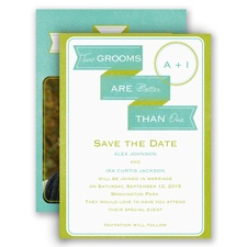 Two Grooms Modern Save the Date