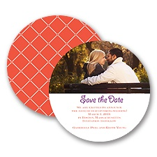 Simple Lattice - Tango - Save the Date Card
