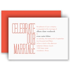 Typecasting Red Wedding Invitation
