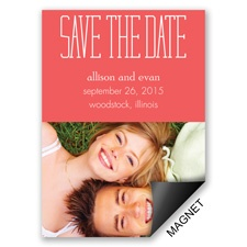 Typecasting Modern Save the Date Magnet