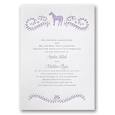 Horse Silhouette - White - Featherpress Invitation