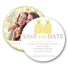Patterned Dresses Modern Save the Date