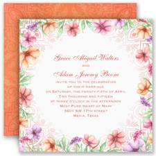 Wedded Bliss Wedding Invitation