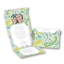 Perfectly Paisley - Granny Apple - Seal and Send Invitation