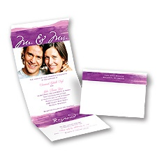 Watercolor Mr. and Mrs. Grapevine Seal and Send Wedding Invitation