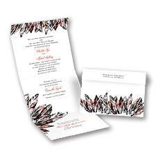 Feathery Style - Tango - Seal and Send Invitation