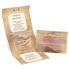 Mountain Majesty - Ecru - Seal and Send Invitation