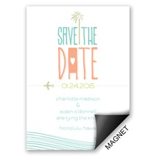 Destination Waves Save the Date Magnet