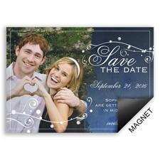 Stargazing Modern Save the Date Magnet