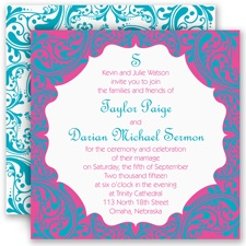 Bollywood Flair Wedding Invitation