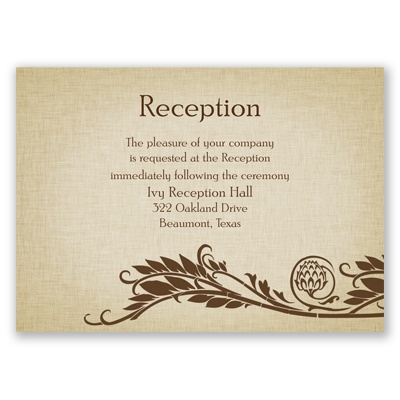 Natural Reception Cards | Wedding Reception Cards at Invitations By Dawn