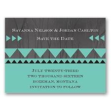 Legendary Love - Peacock - Save the Date Magnet