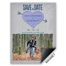 Natural Look - Orchid - Save the Date Magnet