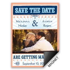 Star Studded Corabell Modern Save the Date Magnet