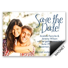 Big Announcement Modern Save the Date Magnet