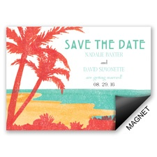 Palm Tree Pair Save the Date Magnet