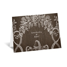 Rustic Lace - Note Card and Envelope