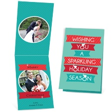 Sparkling Holiday - Photo Holiday Card