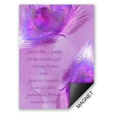 Watercolor Peacock Grapevine Save the Date Magnet