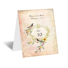 Vintage Birds - Table Card