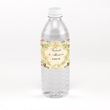 Vintage Birds - Water Bottle Label