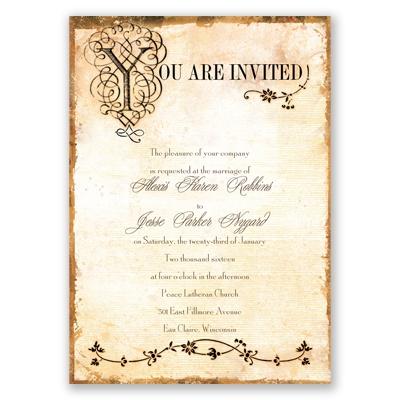 Antique Book Wedding Invitation