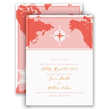 World of Romance - Melon - Save the Date Card