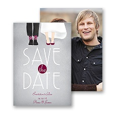 Dancing Shoes Mr. and Mrs. Save the Date