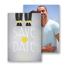 Dancing Shoes - Mr and Mr - Save the Date Card