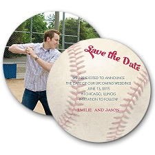 Love for Baseball Modern Save the Date
