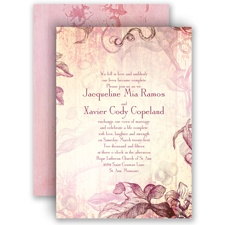 Antique Charm - Cotton Candy - Invitation