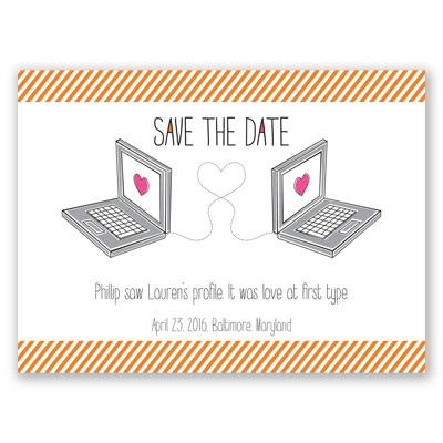Online Romance - Save the Date Card