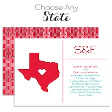 State Pride Wedding Invitation