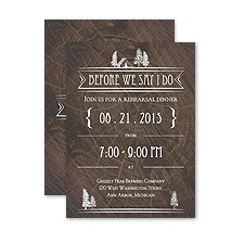 Making Camp - Petite Rehearsal Dinner Invitation