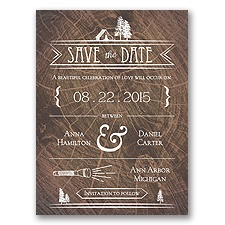 Making Camp - Save the Date Card