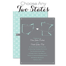 State Your Love Wedding Invitation