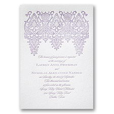 Chandelier Lace - White - Featherpress Invitation