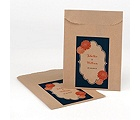 Peeking Flowers - Kraft Favor Bags