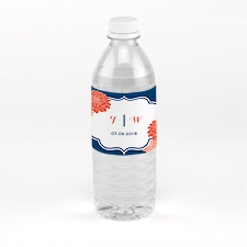 Peeking Flowers - Water Bottle Label