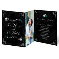 Chalkboard Flowers Wedding Invitation